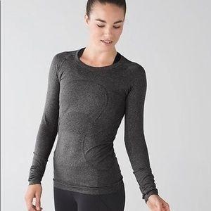 Grey Lululemon Swiftly long sleeve shirt size 10